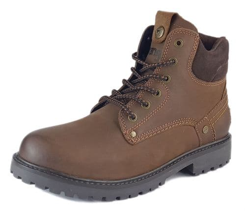 Wrangler - Yuma Chestnut Brown Lace Up Boots
